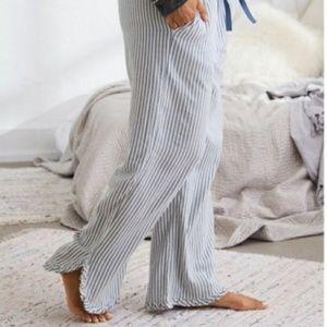 Aerie striped pajama pants